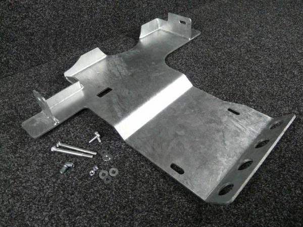 Defender PUMA Gearbox Guard - Galvanised Steel-0