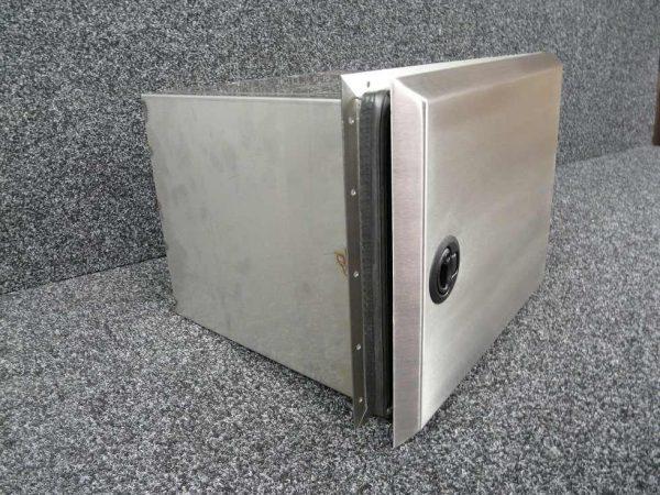 Defender 110 3 Door Large Side Locker - Stainless Steel-0