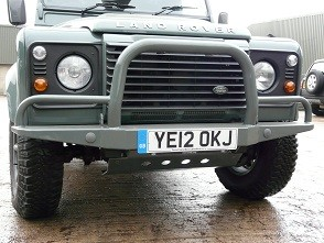 Defender Front Bumper with 'A' Bar & Winch Mount - Galvanised Black-0