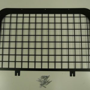Defender Rear Door Window Grill - Black Steel-0