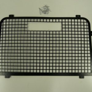 Defender Rear Door Window Grill High Level Brake Light - Aluminium & Black Powder Coated-0