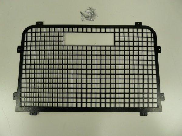 Defender Rear Door Window Grill High Level Brake Light - Aluminium & Black Powder Coated-0
