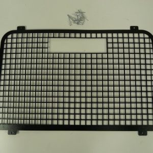 Defender Rear Door Window Grill High Level Brake Light - Black Steel-0