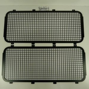 Defender Rear Side Window Grills - Aluminium & Black Powder Coated -0