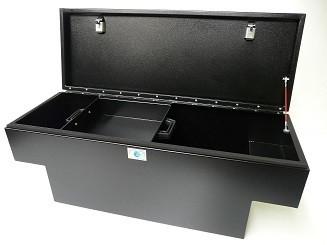 Defender Rear Stowage 'T' Box Double Lockable with Accessory Tray-0