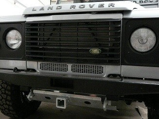 "Defender Steering Guard - Galvanised Steel with 2"" Receiver & Pin-0"