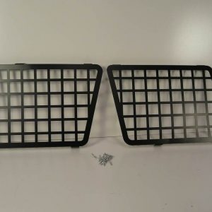 Discovery II Side Window Grills - Black Steel-0