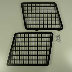 Discovery Side Window Grills - Aluminium & Black Powder Coated-0